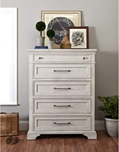 Trisha Yearwood Home Easy Living 5 Drawer Chest, Dovetail Drawer Joints: Yes, Adult Assembly Required: No