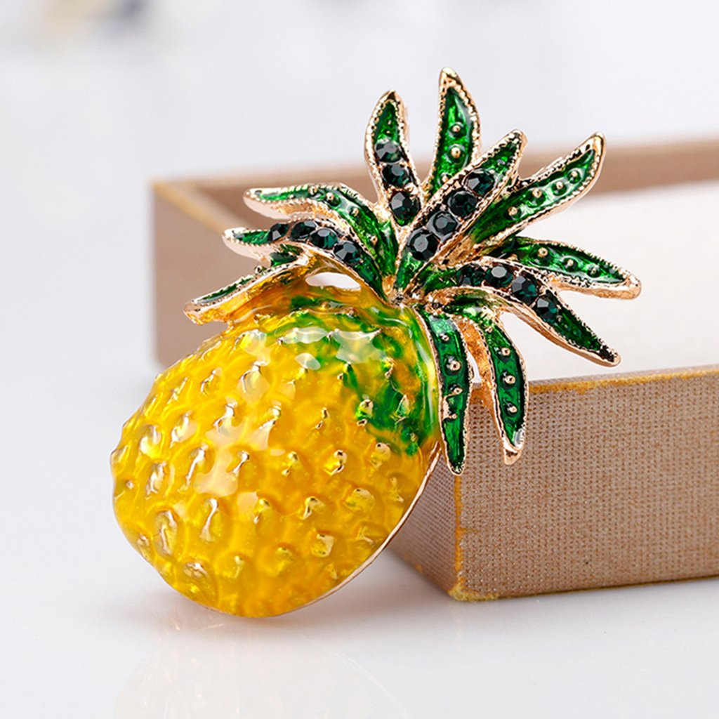 Datuun New Pineapple Brooch Pins Fruit Jewelry Cute for Women Suit Fashion Gift Corsage by Datuun (Image #5)
