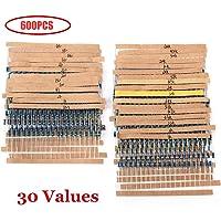 TeOhk 600Pcs Resistores Electrónicos de Película de Metal