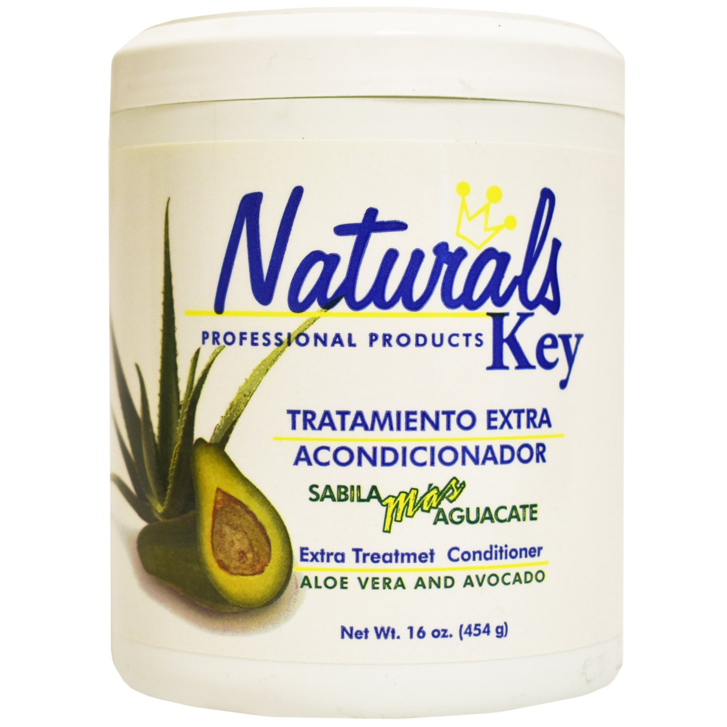 Dominican Hair Product Naturals Key Aloe Vera and Avocado Treatment Conditioner 16oz