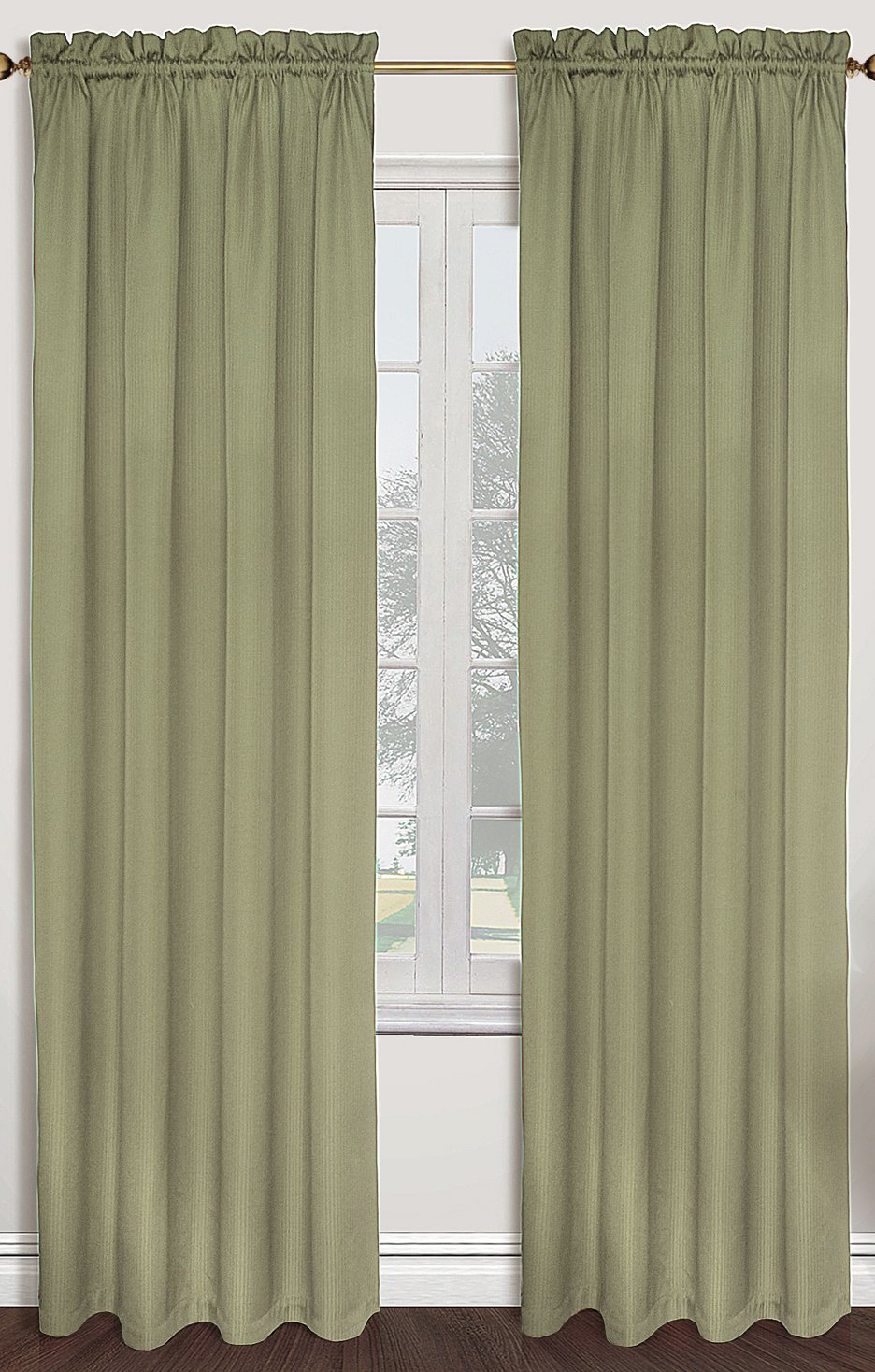 United Curtain Sterling Woven Window Curtain Panel, 40 by 63-Inch, Sage - Sold As Separates Fabric Content: 100% Polyester Care Instructions: Machine Wash Cold, Tumble Dry Low, Cool Iron, Never Bleach - living-room-soft-furnishings, living-room, draperies-curtains-shades - 71uC1h602%2BL -