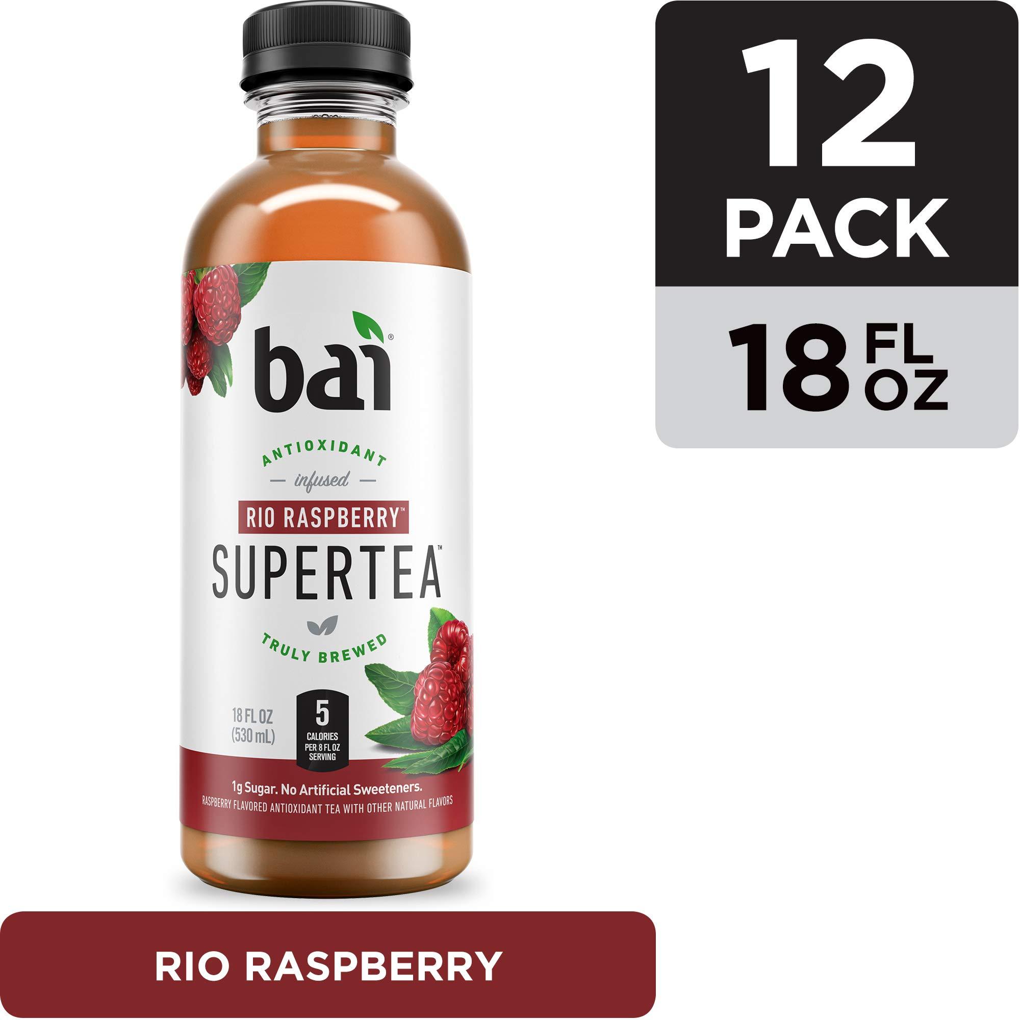Bai Iced Tea, Rio Raspberry, Antioxidant Infused Supertea, Crafted with Real Tea (Black Tea, White Tea), 18 Fluid Ounce Bottles, 12 count by BAI