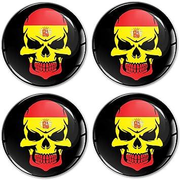 Biomar Labs® 4 x 60mm Adhesivo Pegatinas para Tapas de Rueda de Centro Tapacubos para Coche Bandera España Spain Flag A 9160: Amazon.es: Coche y moto