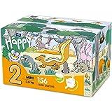 Bella Baby Happy Windeln Mini Größe 2 (3-6 kg) mit Urinindikator, 156 Stück