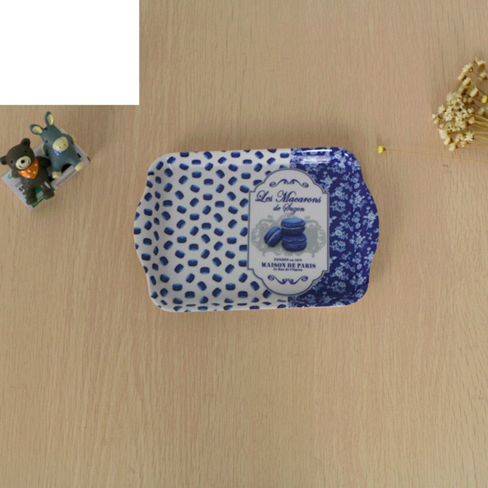 Fall Tile European-style Small Tray Rectangle Thickened Ear Plate Lovely Fruit Dim Sum-F