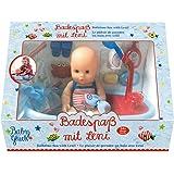 Spiegelburg 13810, Leni, la bambola che ama fare il bagnetto - giocattolo per bambini - set bambolotto e accessori