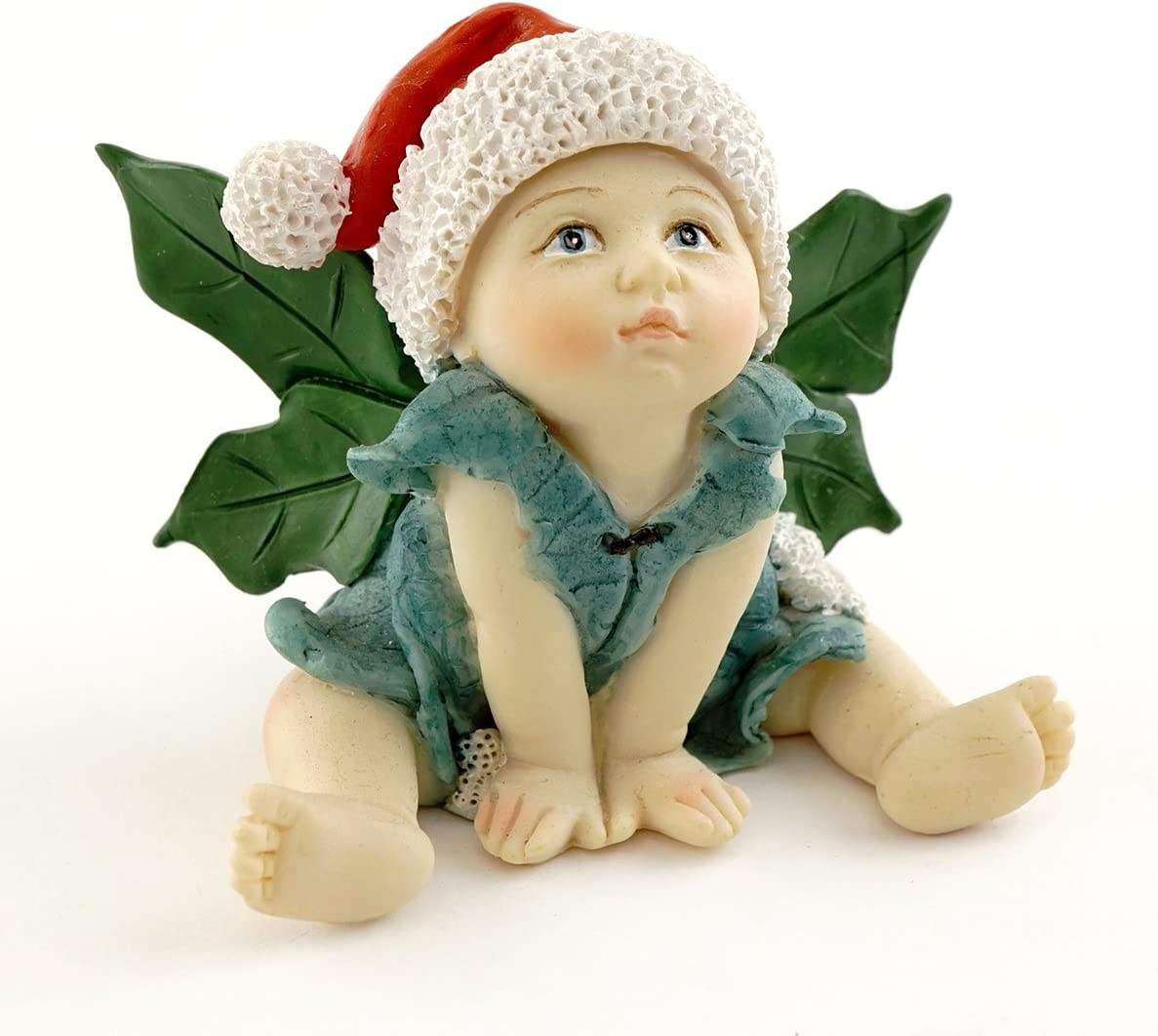 Top Collection Miniature Garden and Terrarium Christmas Fairy Baby Figurine