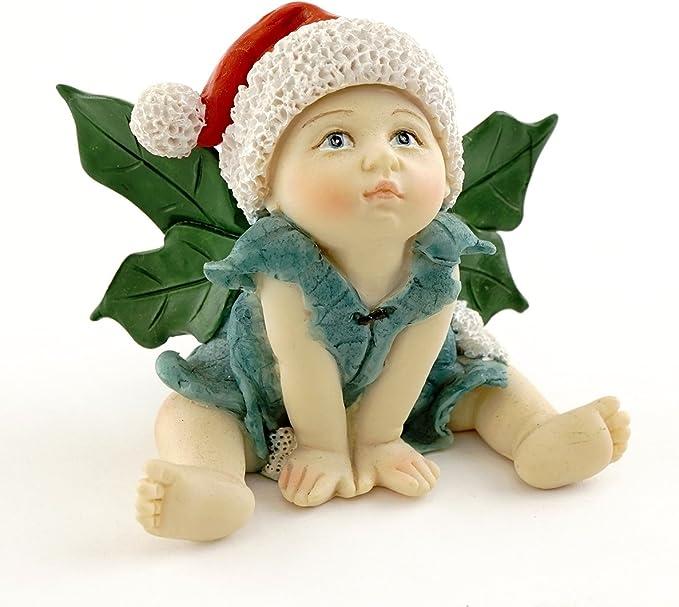 Top Collection Miniature Garden and Terrarium Christmas Fairy Baby Sleeping with Bunny Figurine
