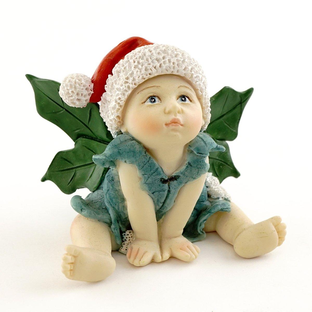 Top Collection Miniature Garden and Terrarium Christmas Fairy Baby Figurine