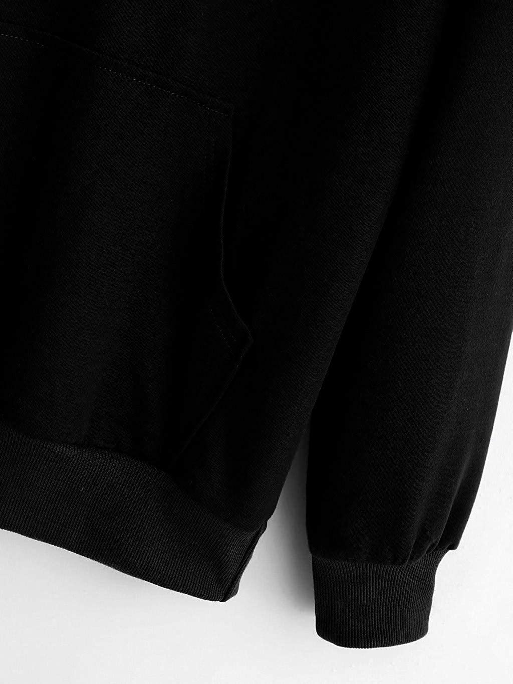 MIRRAY Damen Katzenohren Long /Ärmel Hoodie Sweatshirt mit Kapuze Pullover Tops Bluse