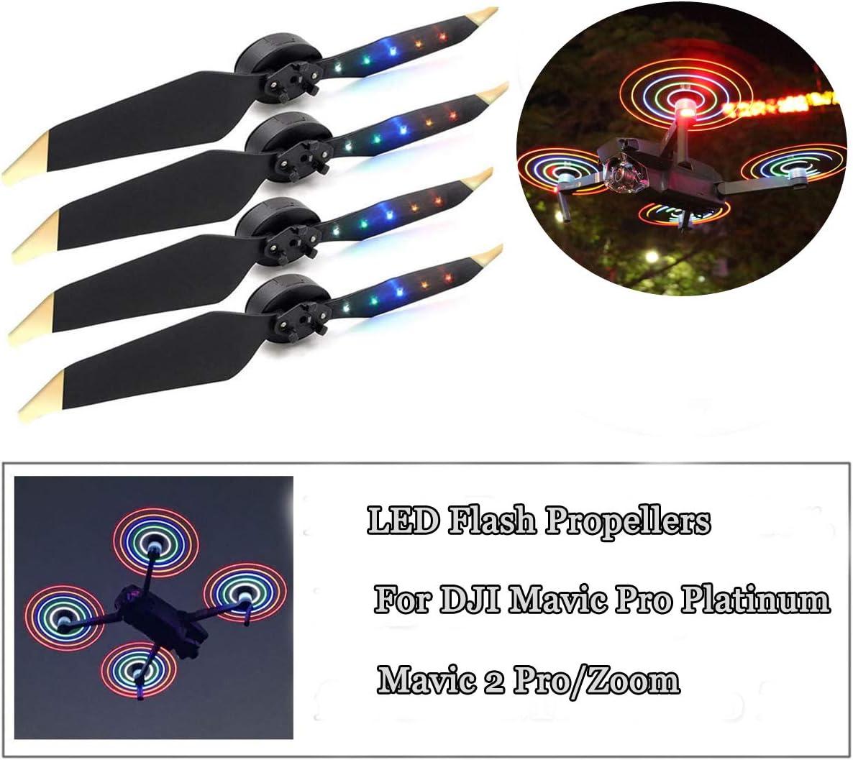 Faible bruit Flash DEL Hélice Rechargeable USB Nuit Fly Prop pour DJI Mavic Air