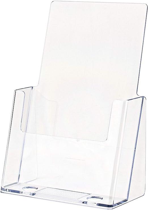 Leaflet Holder Brochure Dispenser Desktop Counter 4 Pockets Black Mesh Design
