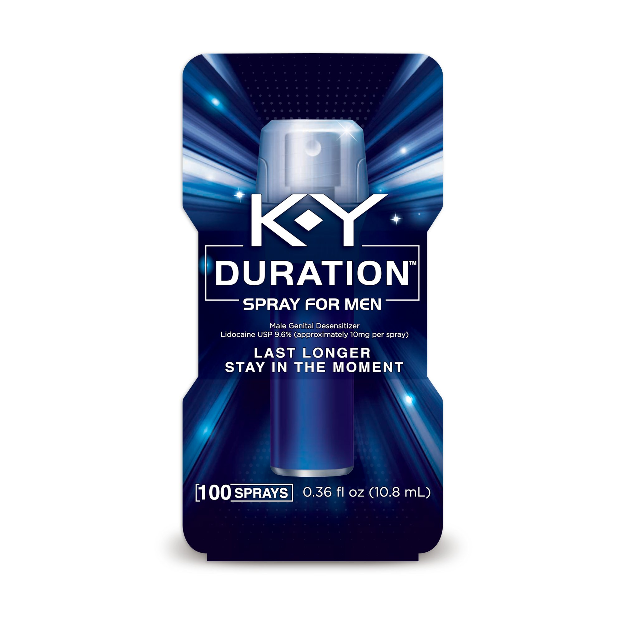 K-Y Duration Spray for Men - Last Longer and Stay in the Moment, 100 sprays / 0.36 fl oz