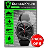 ScreenKnight® Samsung Gear S3 Frontier Screen Protector - Military Shield X 6 Pieces