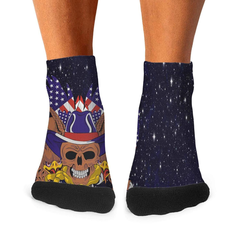 Scottish tartan grunge leopard spots Printed No ShowHiking Non-Slid Ankle Socks for adults