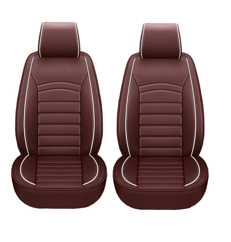 1 1 Lux Vordere Autositzbezüge Komfort Braun Schonbezüge Kunstleder Vordersitzbezüge Neu Elegant Hochwertig Baby