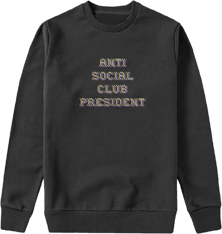 Anti Social Club President Capucha Crewneck Sudadera Sweater Sweatshirt Camisa De Entrenamiento Cumpleaños: Amazon.es: Ropa y accesorios