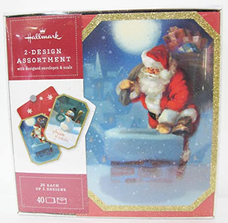 hallmark bx5193 santa and snowman 2 design assortment 20 each - Santa Snowman 2
