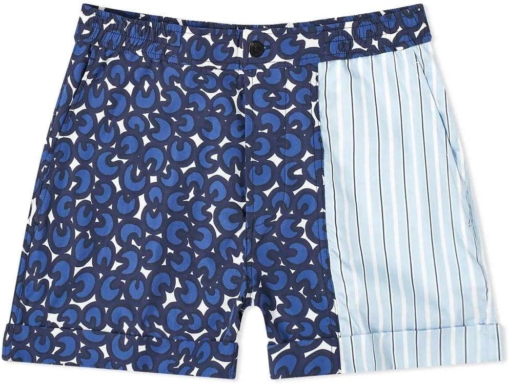 Neil Barrett Mix Print Swim Shorts