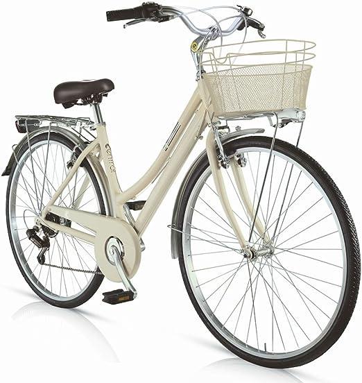 MBM Bicicleta Central 2017 para Mujeres, Cuadro de Aluminio, 28
