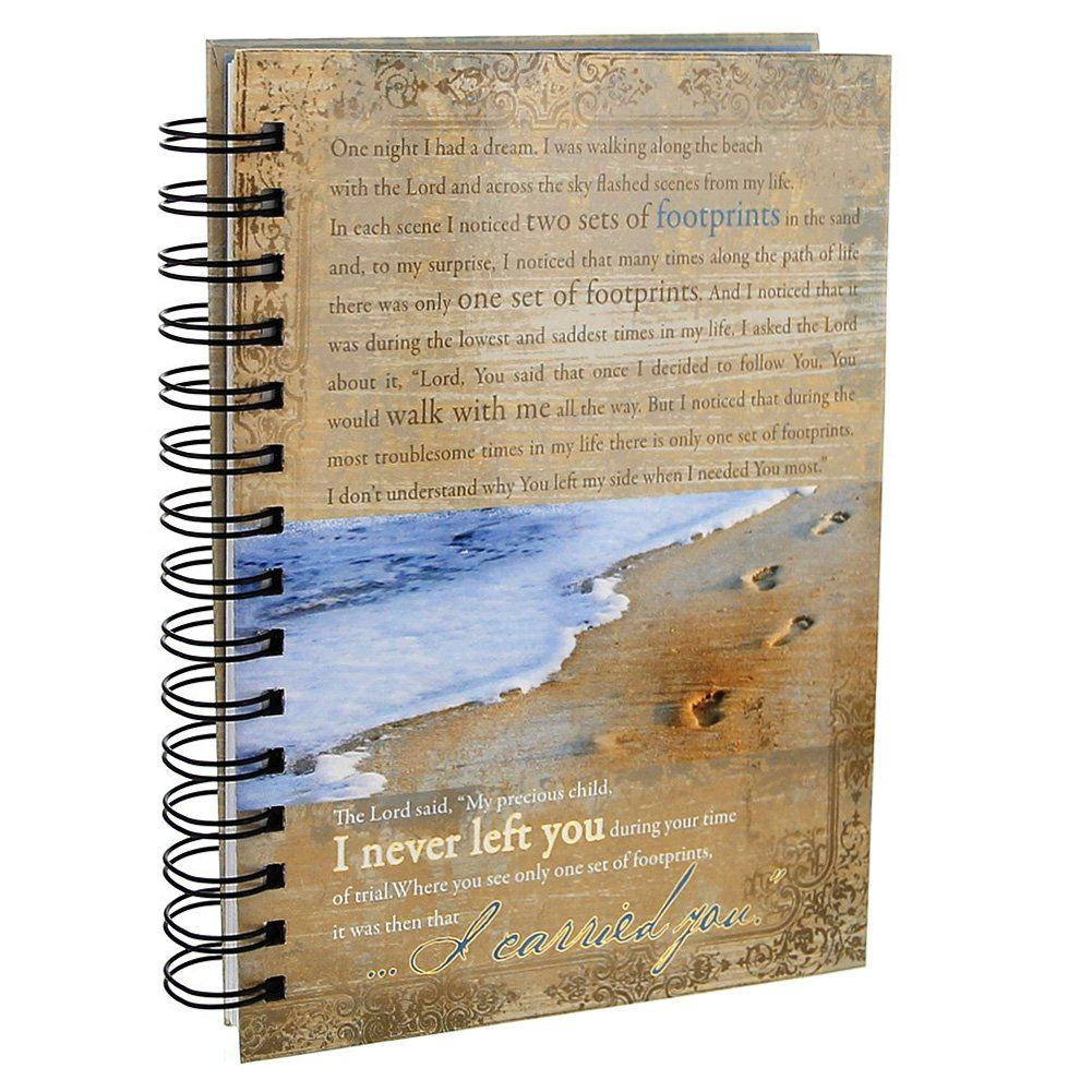 Footprints Prayer Hardcover Wirebound Journal product image