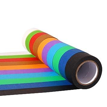 Amazon.com: 10 piezas de cinta adhesiva de color de 1.0 in ...
