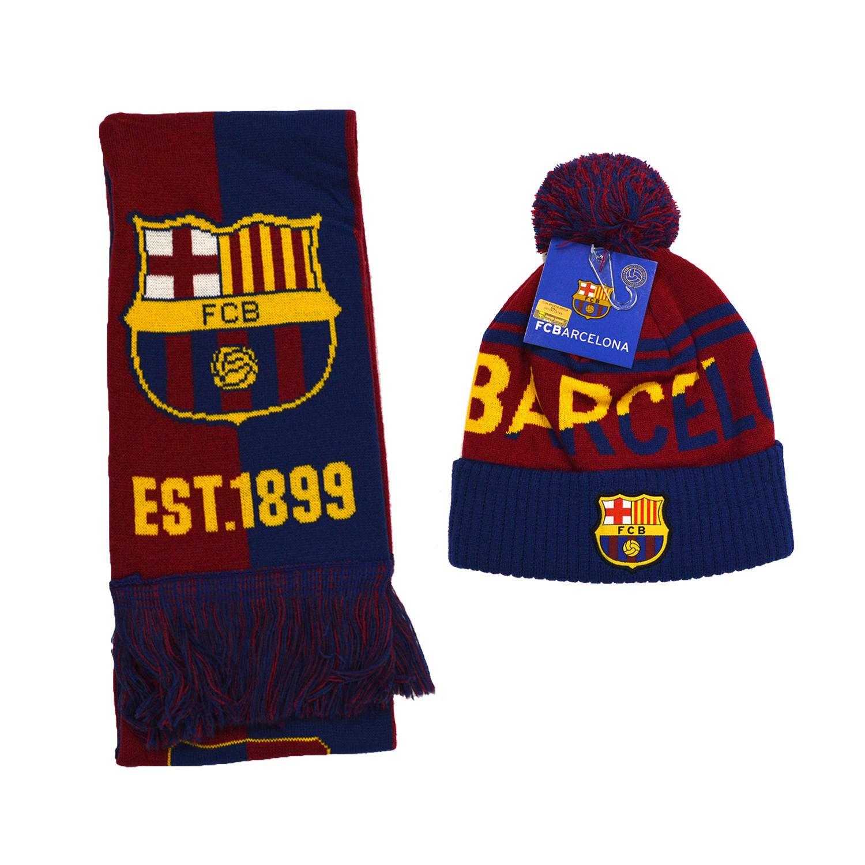 FCバルセロナ FCB バルセロナセット ビーニー スカル キャップ 帽子 スカーフ リバーシブル 2点セット FCB01 5  B07JLPS8HZ