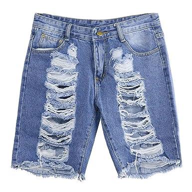 Cinnamou Pantalones Cortos Mujer Vaqueros Rotos, Las Mujeres ...