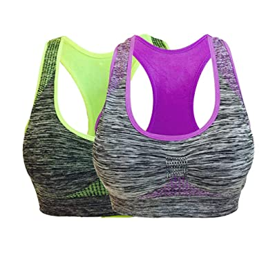 Two Pieces Sport Bra for Women, Workout Running Outdoor Bra ...