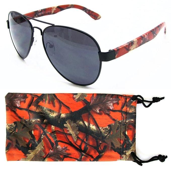 Amazon.com: De los hombres Camuflaje Aviator anteojos de sol ...