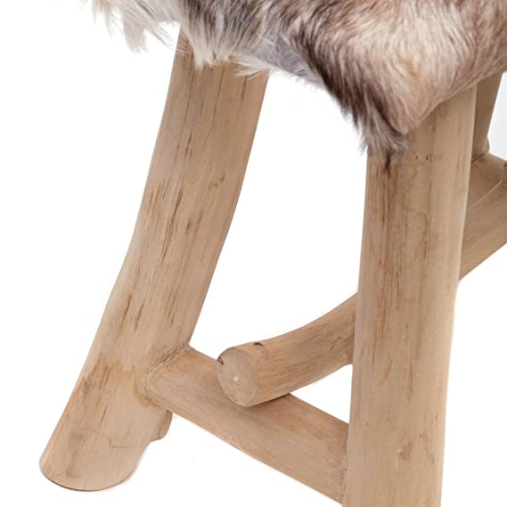Design Stool Finca Chair Seat Made Of Teakwood Brown From