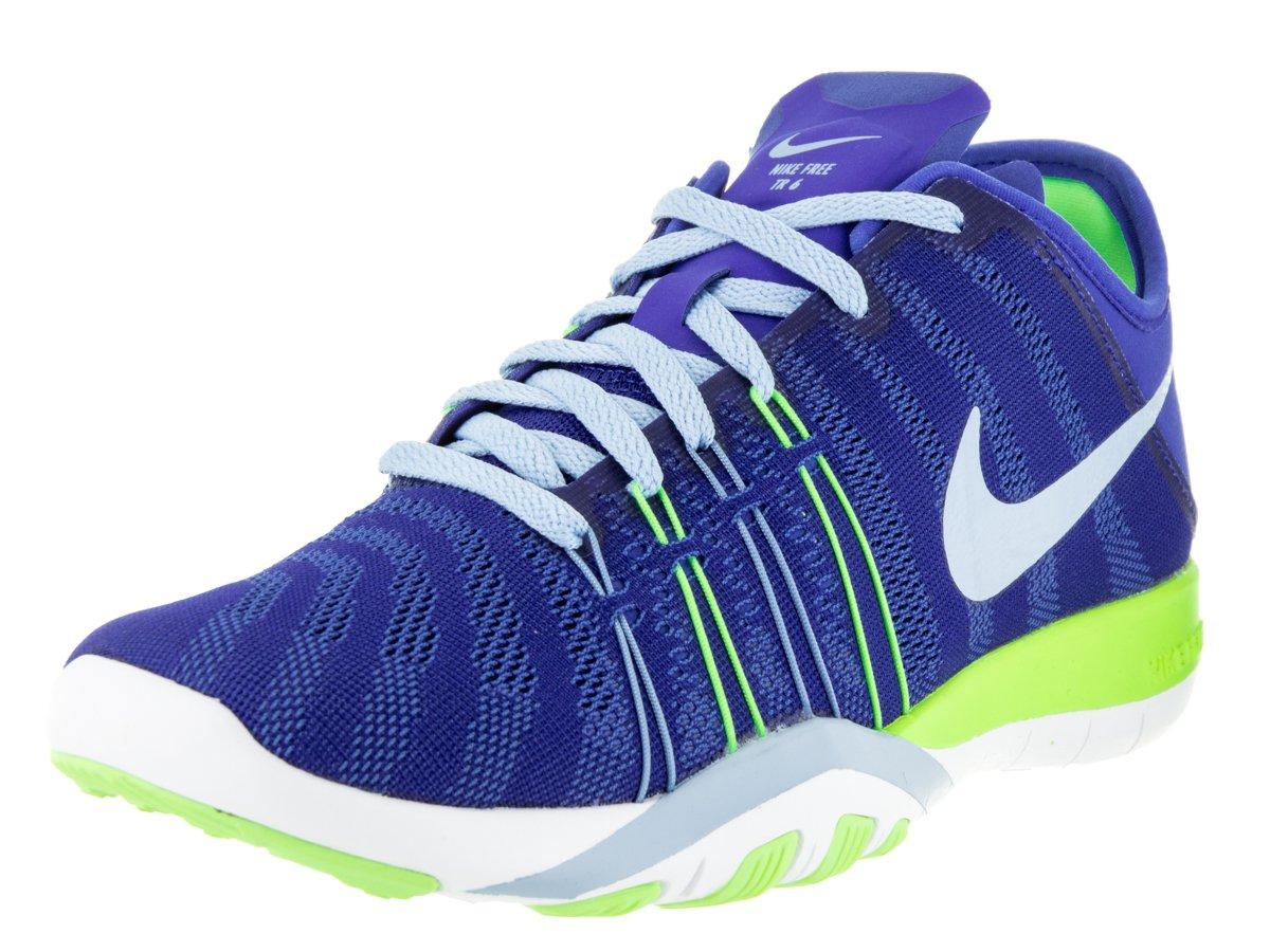 Womens Nike Free TR 6 Training Shoes B019HDKL1S 7.5 B(M) US|Racer Blue/Bluecap/Glost Green/White