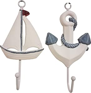 Awesome Set of (2) Sailboat & Ship's Anchor Wall Decor Hangers!
