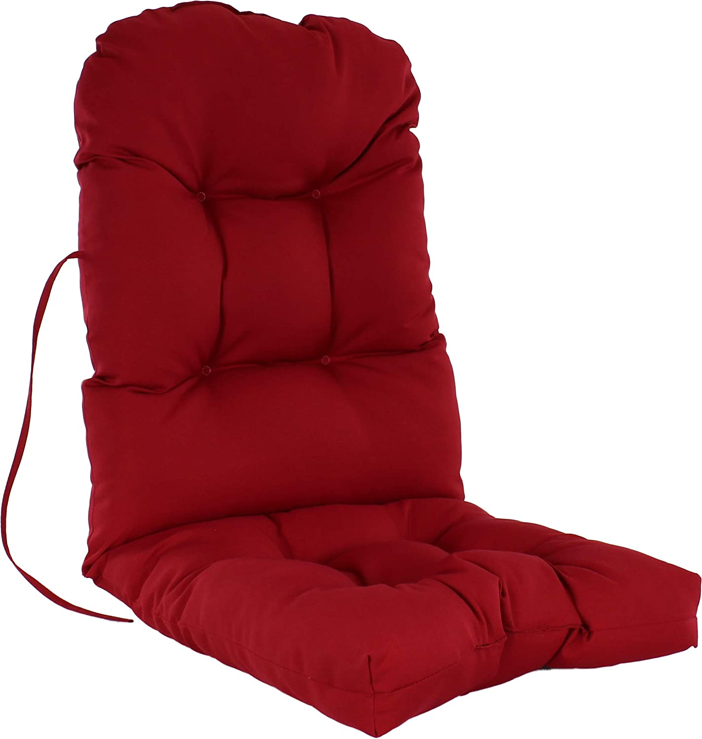 "College Covers Everything Comfy Indoor/Outdoor Adirondack Patio Seat Cushion, 49"" x 20"" x 3"", Red"