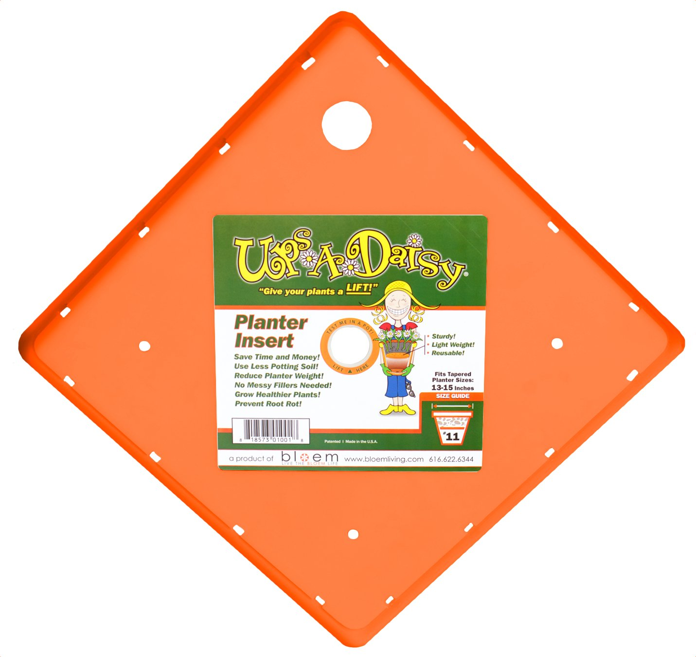 Bloem TS6322-12 Square Ups-A-Daisy Planter Insert, 12-Inch, 12-Pack
