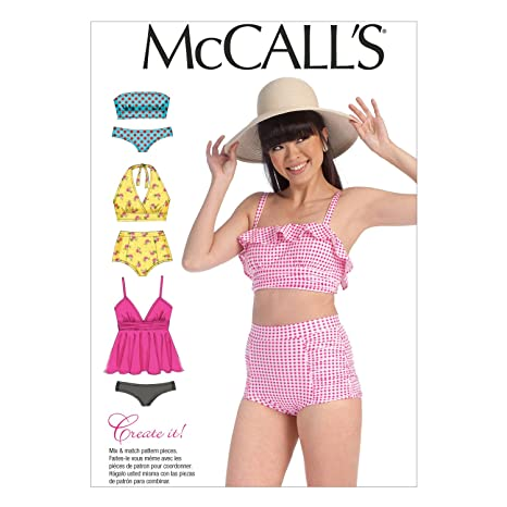 amazon com mccall s patterns m7168 misses swimsuits sewing