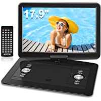 WONNIE 17.9'' Large Portable DVD/CD Player with 15.4'' Swivel Screen, 6 Hrs 5000mAH Rechargeable Battery, 1366x768 HD…