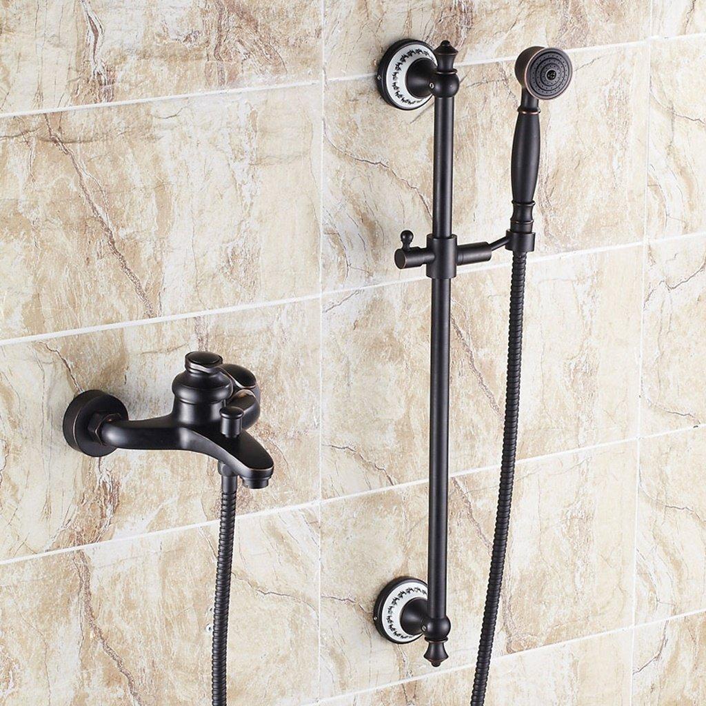 MOMO Dusche Set Schwarz Antiken Dusche Wasserhahn Kupfer Dusche Set Europäischen Bad Wasserhahn Mischventil by MOMO (Image #4)
