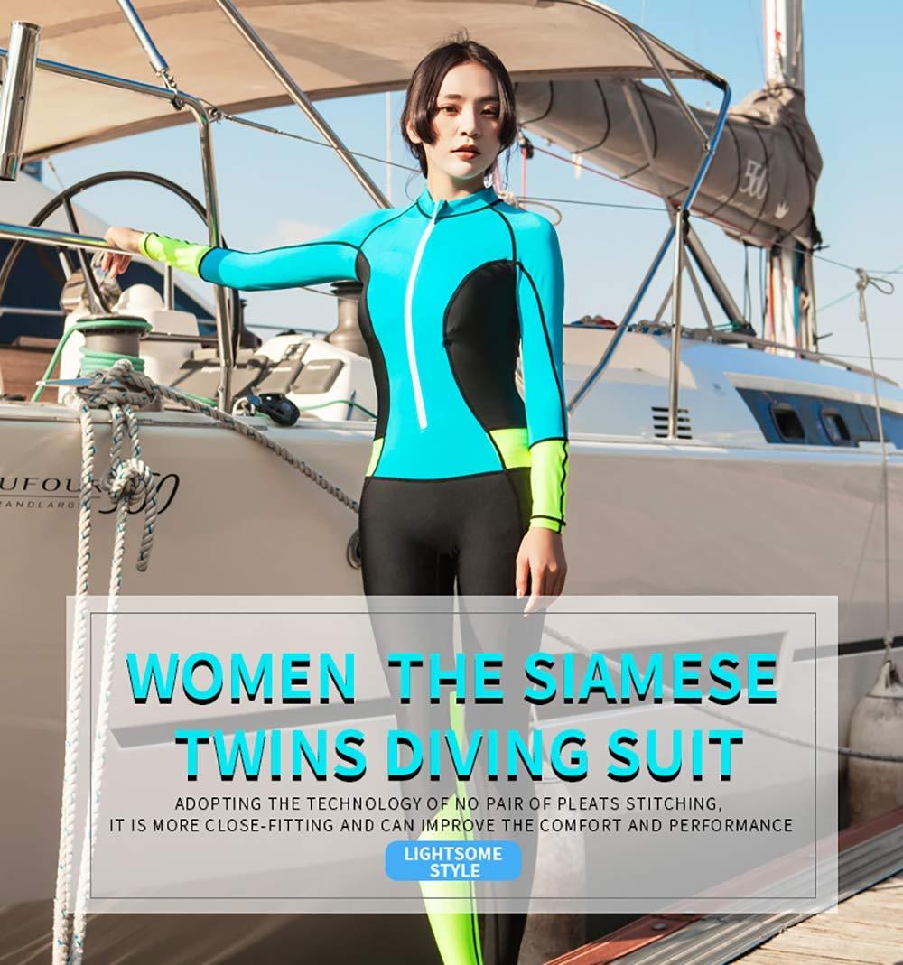 GYFY Tuta Subacquea Siamese Donna Protezione Solare Abbigliamento Spiaggia Nuoto Meduse Abbigliamento Snorkeling Surf Abbigliamento 0.5 mm,S
