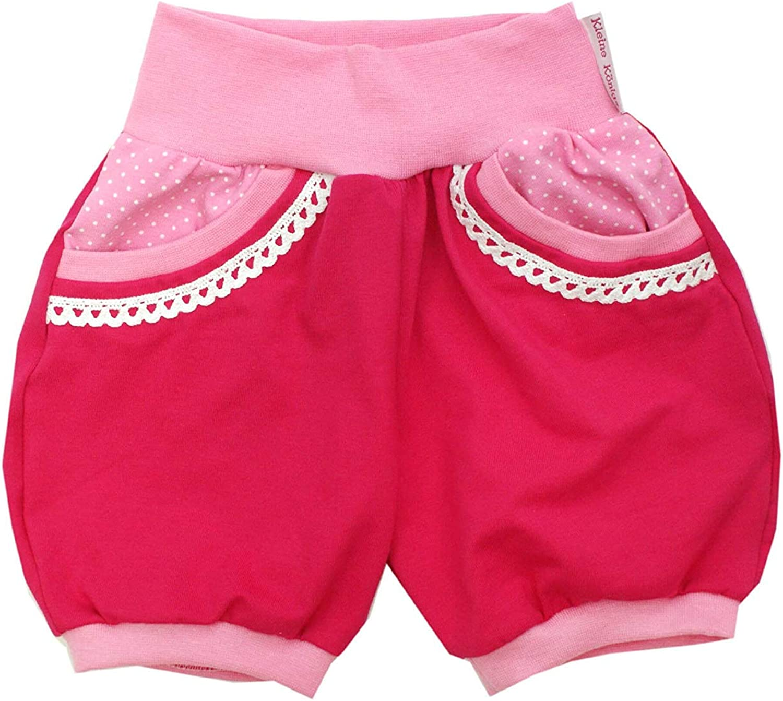 Kleine K/önige Kurze Pumphose Baby M/ädchen Shorts /· Modell Pink and Dots rosa mit Tasche /· /Ökotex 100 Zertifiziert /· Gr/ö/ßen 50-152