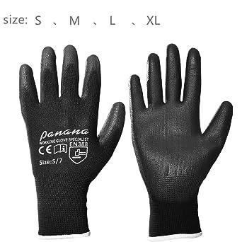 5 paires gants nylon pu poignée de sécurité travail XL//10