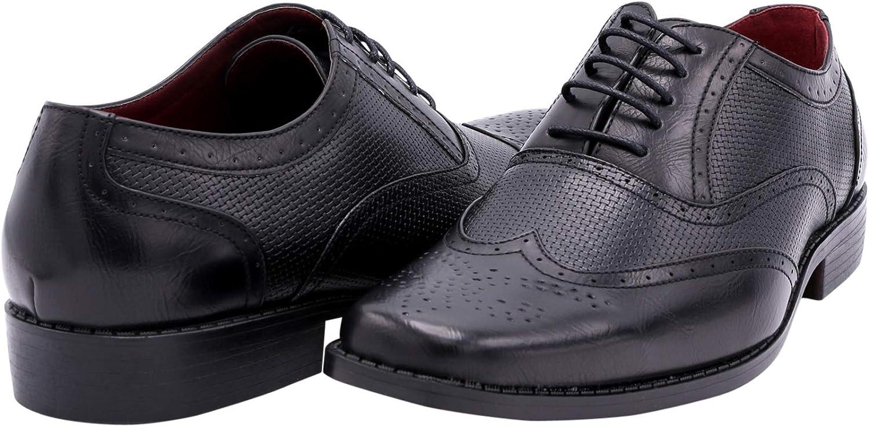 Alberto Fellini Mens Wing Tip Dress Shoe,Black08,10