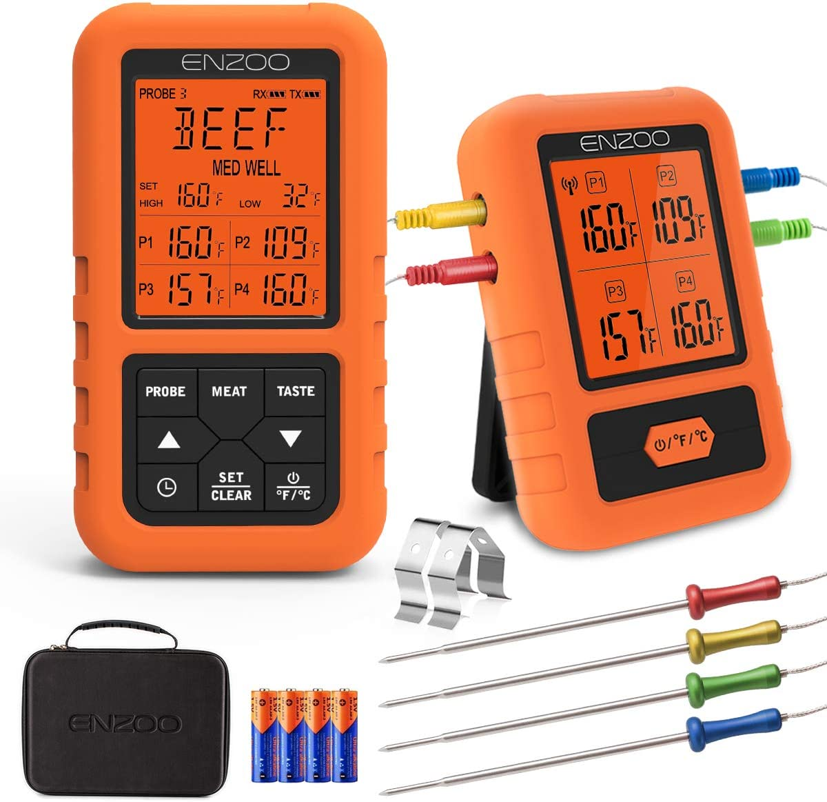 Most accurate wireless meat thermometer: ENZOO Wireless Meat thermometer