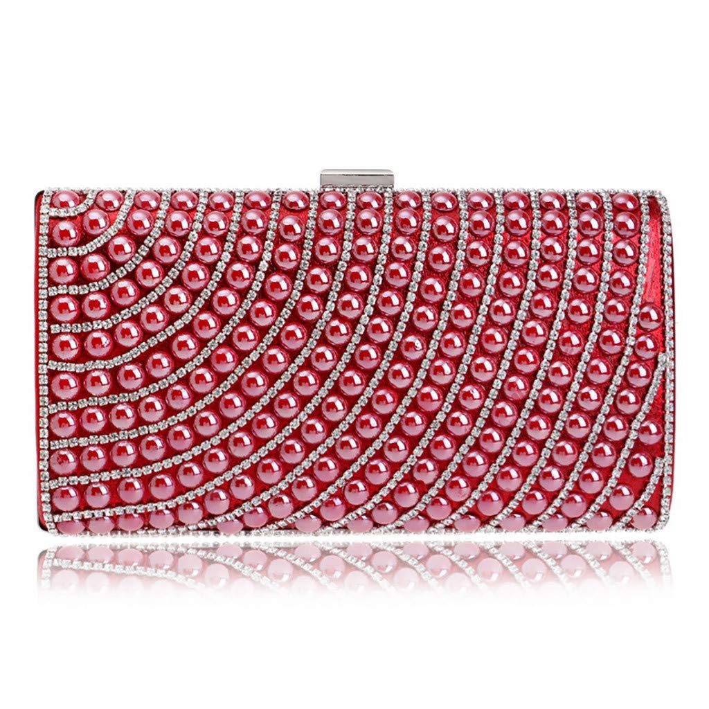 LUXISDE Women Evening Envelope Handbag Party Sparkly Clutch Purse Shoulder Cross Bag by LUXISDE (Image #3)