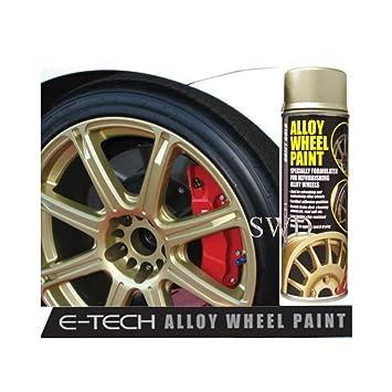 Auto Inpart Drift Oro E-Tech - Pintura para Llantas de aleación Chip Resistente Rueda Plateado metálico: Amazon.es: Coche y moto