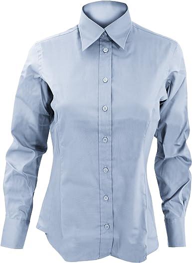 Kustom Kit- Camisa Oxford de manga larga de empresa para mujer: Amazon.es: Ropa y accesorios