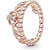 Pandora Women's Multi Tone Gold Cubic Zirconia 18K Ring, 7 US - 180880CZ-54