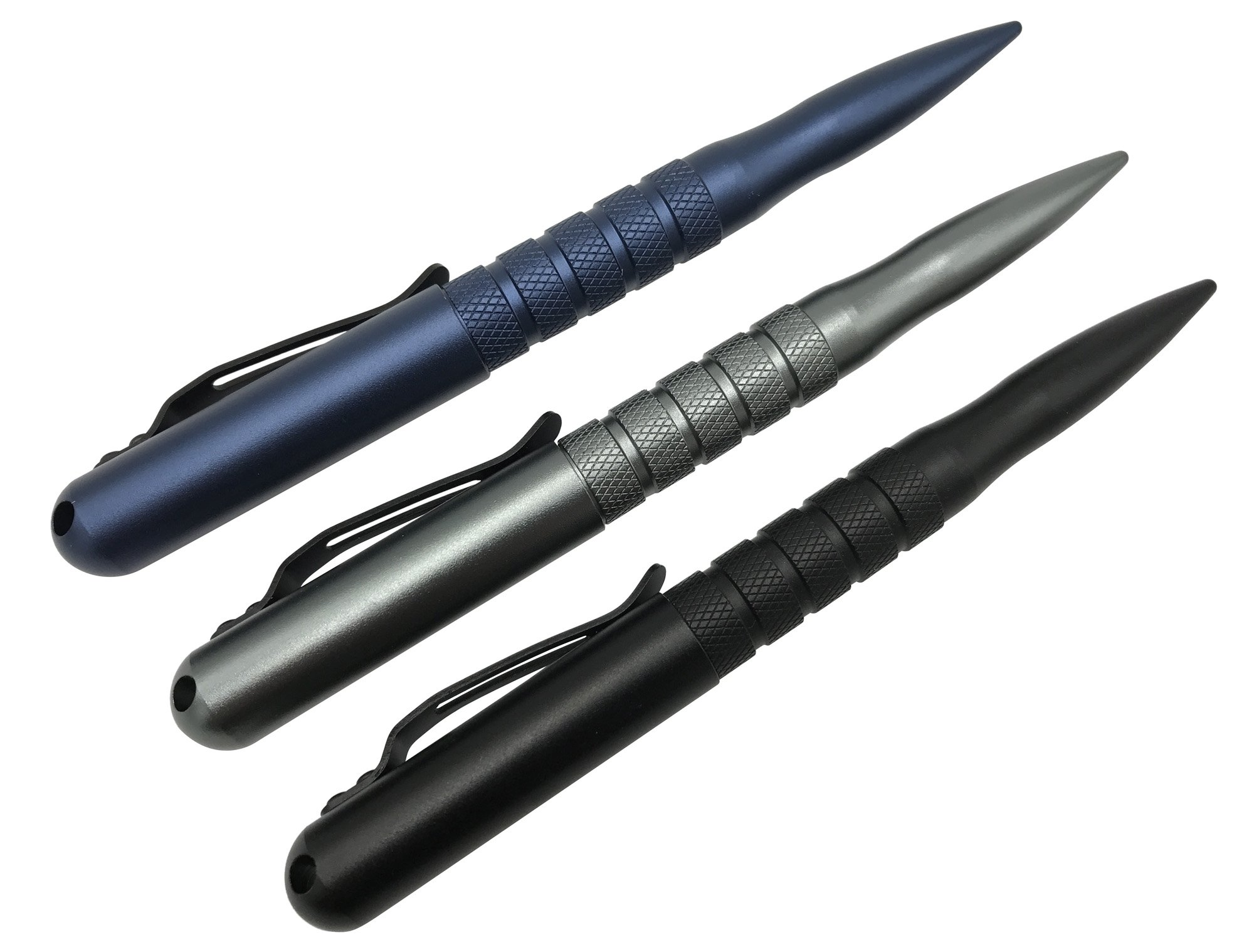Practical Tactical Pen - The Premium Discreet High-Strength EDC Survival Tool, Glass Breaker and Pen, Best Design for Quick Effective Self Defense for Men and Women - 3 Colors, 2 Ink Cartridges