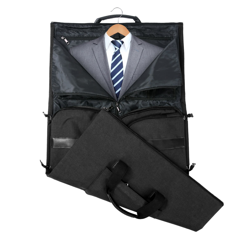 Carry-on Garment Bag Suit Travel Bag Duffel Bag Weekend Bag Flight Bag Gym Bag - Black by UNIQUEBELLA (Image #3)
