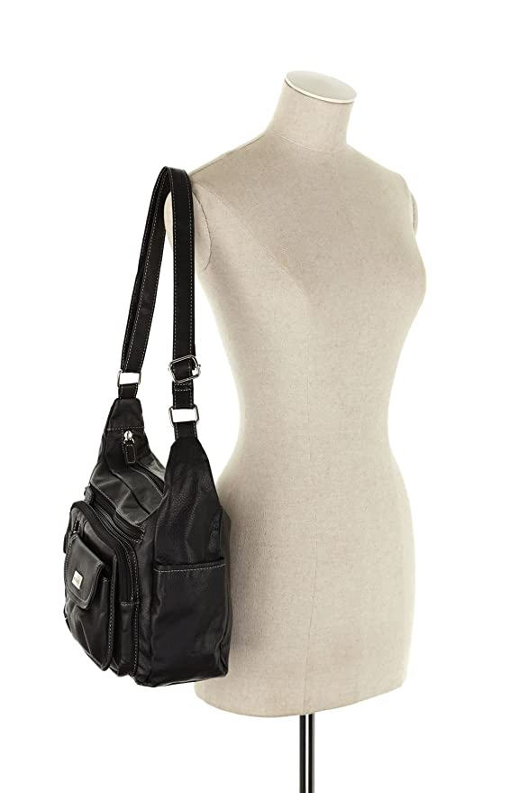 5c605446ba Cabrelli Super Zips Crossbody Bag Womens Across Body Handbag Black   Amazon.com.au  Fashion